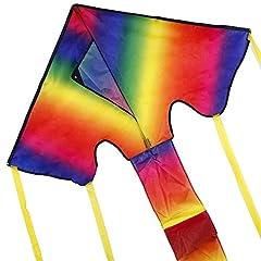 Idea Regalo - Anpro Aquilone Acrobatico Iridescente Arcobaleno Grande Leggero Resistete per Bambini e Adulti con Cavo Aquiloni