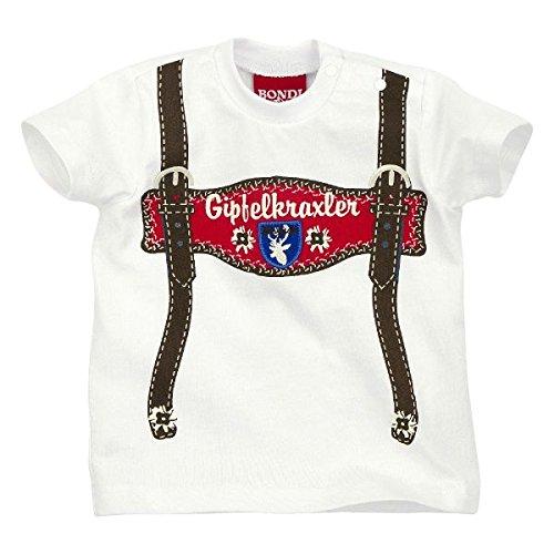BONDI-Dress T-Shirt Single-Jersey weiß/braun Größe 74