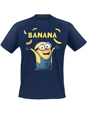 Minions Banana Camiseta Azul marino