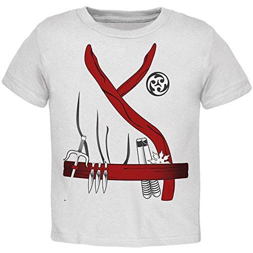 inja Assassin Kostüm Kleinkind T Shirt Weiß 3 t (Weißes Kleinkind Ninja Kostüme)