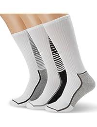 Calvin Klein Socks Herren Sportsocken Quentin, 3er Pack, Gr. 40/46, Mehrfarbig (black/charcoal mel.-1