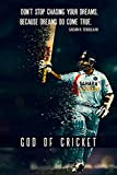 #3: [MY HOME]sachin god Cricket Poster ( POSTER SIZE =30 cm x 45 cm ) Buy 1 and get 1 Set Vinyl Sticker(29 HEARTS,1 CANNON) FREE Check Secondary Image
