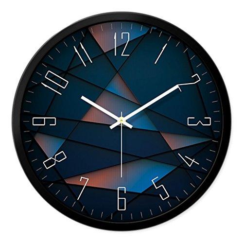 XIAOLVSHANGHANG Clock Runde Schwarze Wanduhr, Wohnzimmer kreative Moderne Uhr Wanduhr Uhr Quarzuhr Uhr Tabelle Schlafzimmer stumm Persönlichkeit große Wanduhr (Farbe : SCHWARZ, größe : 30.5cm)