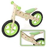 Laufrad Kinderlaufrad Kinder Fahrrad Lauflernrad Lernlaufrad Balance Bike Laufen aus Holz Chopper 12 Zoll in Grün von BABY VIVO