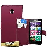 Accessory Master- Viola Custodia Libro Portafoglio in pu Pelle per Nokia Lumia 635