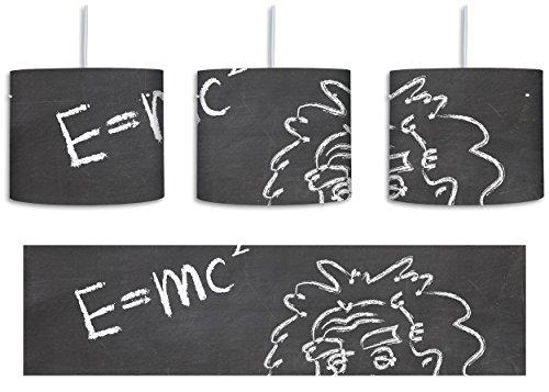 Albert Einstein inkl. Lampenfassung E27, Lampe mit Motivdruck, tolle Deckenlampe, Hängelampe, Pendelleuchte - Durchmesser 30cm - Dekoration mit Licht ideal für Wohnzimmer, Kinderzimmer, Schlafzimmer