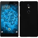 PhoneNatic Case für Nokia 7 Hülle schwarz gummiert Hard-case Case