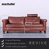 Machalke Designer Leder Sofa Rot Echtleder Couch #6392 Leichte Gebrauchsspuren
