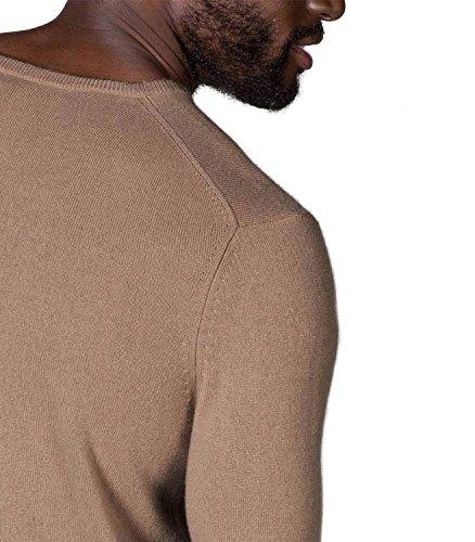 WoolOvers Pullover aus reinem Kaschmir mit Rundhalsausschnitt für Herren Camel