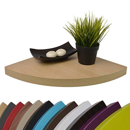 Moorland® mensola angolare - sistema di fissaggio a scomparsa pegasus - colore: rovere chiaro - 35x35x3,4cm alta portata