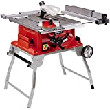 Einhell Table de sciage TE-CC 2025 UF (2000 W, 48 dents, Hauteur de travail : 850 mm, Piètement repliable, Poussoir, Support d'accessoires, Disjoncteur de sécurité)