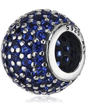 Pandora Damen-Charm 925 Sterling Silber Zirkonia blau 791051NCB