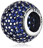 Pandora Women's 925 Sterling Silver Blue Cystal Pave Charm