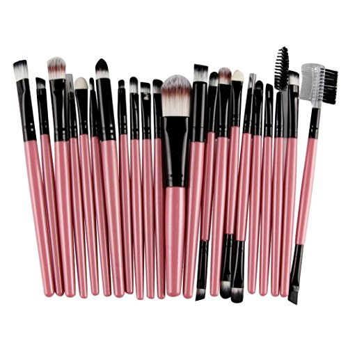 TPulling 22pcs Kosmetik Make-up Pinsel Blusher Augen Schatten Pinsel Set Kit Lidschatten Gesichtspinsel (Rosa)