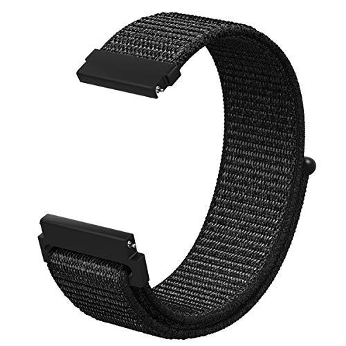 MoKo für Samsung Gear S3 Armband, Nato Nylon Uhrenarmband Ersatzarmband für Samsung Gear S3 Frontier/S3 Classic/Galaxy Watch 46mm/Garmin Vivomover/Fenix Chronos, Armbandlänge 5.51-8.86 (140mm-225