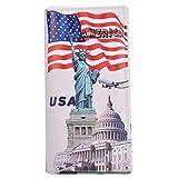 Minetom Femme Portefeuille en Cuir Synthétique Longue Impression Embrayage Pliante Portefeuille ( USA )