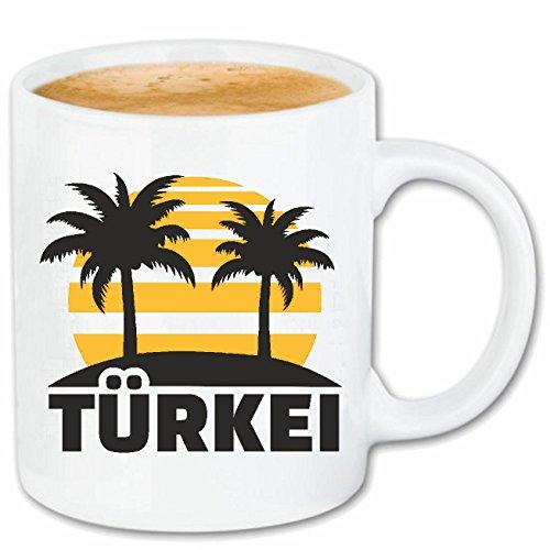 Kaffeetasse 'TÜRKEI - TÜRKIYE - TÜRKE - TÜRKISCH - ANKARA' Keramik 330 ml in Weiß