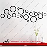 Naveed Arts - Acrylic 3D Wall Décor for Home and Office - Black Rings - JB091B - Factory Outlet