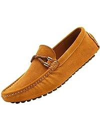 YAER Hombres Clásico Mocasines de Gamuza Zapatos de Conducción
