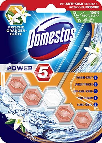Domestos WC-Stein Power 5 Orangenblüte, 9er Pack(9 x 55 g)