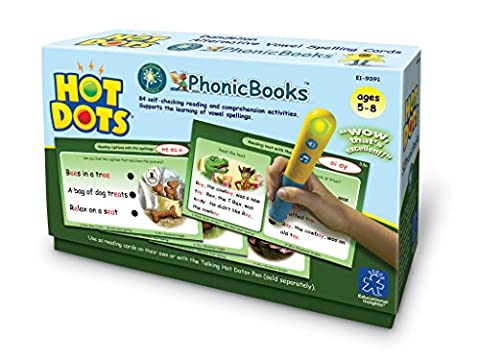 Learning Resources Hot Dots PhonicBooks Dandelion Readers Alternative Vowel Spellings Cards