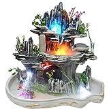 ZZKJXHJ Desktop Cascata/Lustrino Foglia di Loto Acqua Fish Tank Ornaments/Creativo Decorazione d'interni Scrivania Acqua Caratteristiche Artigianato (Regalo)