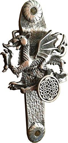 Walisischer Drachen-Türklopfer (exklusives Design) aus solidem englischen Zinn