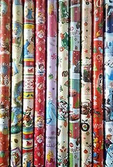 je 200x70cm 5 Rollen Disney Geschenkpapier verschiedene Motive f/ür M/ädchen und Jungen Paket 2