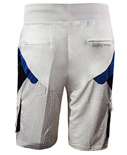 Madhero -  Tuta da ginnastica  - Maniche corte  - Uomo White Shorts