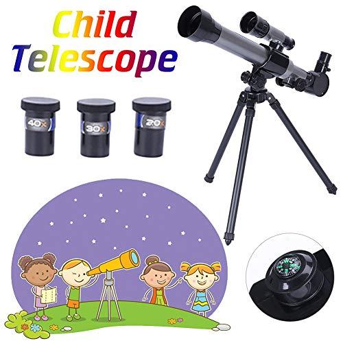 Todaytop Kinder Astronomisches HD-Teleskop mit Astronomischer Landschaftslinse und Stativ-Refraktor Pädagogisches Lernspielzeug für Astronomie-Anfänger Ideals Geschenk für Kinder von 5 bis 10 Jahren