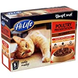 HiLife Tempt Me Cat Food Poultry Presentation in Gravy 32 x 85g Pouches (Pack of 4)