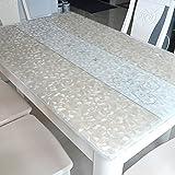 XKQWAN Pvc tischdecke Wasserdicht Weichglas Rechteck Einweg Kunststoff tischdecken Transparent Simple Frosted crystal platten tischdecke-D 90x150cm(35x59inch)