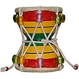 DronaIndia Damru mano percusión colorido India instrumento Musical