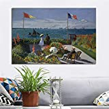 RTCKF Monet Garten Landschaft Poster drucken und Druck auf Leinwand malen Moderne Wand Foto für Raumdekoration (ohne Rahmen) A1 20x30cm