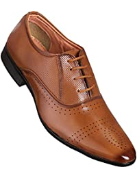 CALASO Tan Corporate Formal Office Shoes