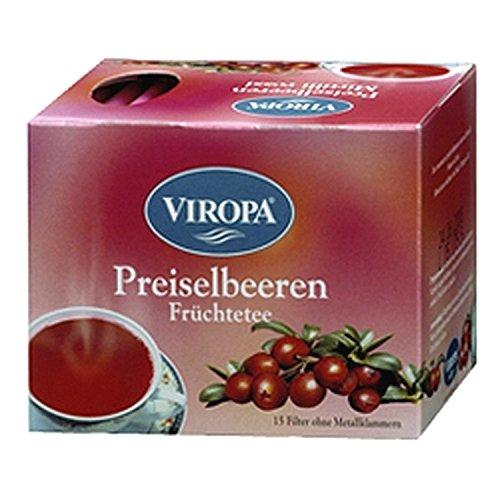 Infuso alla Frutta Mirtillo Rosso 15 bustine di tè - Viropa