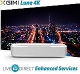 Native 4K Home Theater Projector, XGIMI Lune-4K Super Short Focus Projector TV Harman/Kardon Speaker with LiveTV.Direct Enhanced Global Version Support