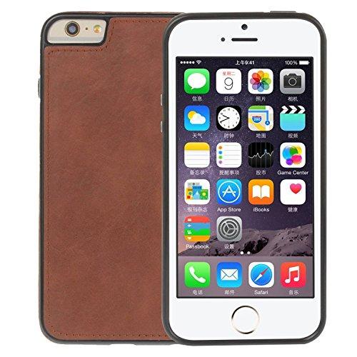 """MOONCASE iPhone 6s Plus/iPhone 6 Plus Coque, Built-in Card Slots Kits Flip Cuir Housse Doux Silicone Antichoc Protection Portefeuille Étuis Case pour iPhone 6 Plus/6s Plus 5.5"""" Café Marron"""