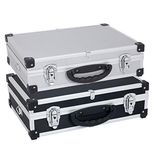 Alukoffer-Alubox-Werkzeugkoffer-Transportbox-Tragegurt-Schlssel-Farbwahl
