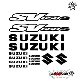 SUZUKI SV 650 SET 20 cm Tuning Aufkleber Sticker Decal `+ Bonus Testaufkleber