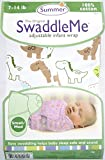 #9: Summer Swaddle 100% Cotton Small/Med Swaddle Adjustable Wrap (Wh/Diano)