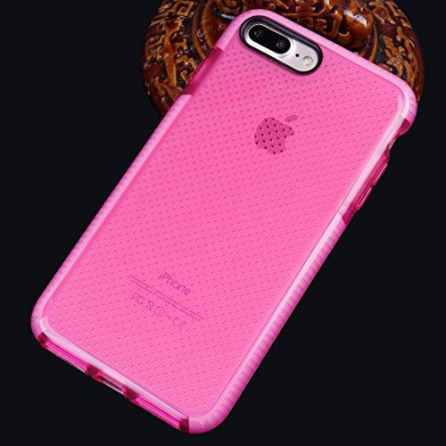 Hülle für iPhone 7 plus , Schutzhülle Für iPhone 7 Plus Basketball Textur Transparente TPU Schutzhülle ,hülle für iPhone 7 plus , case for iphone 7 plus ( Color : Pink ) Pink