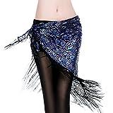 ROYAL SMEELA Foulard de danse du ventre femme Gland Paon Foulards Jupe portefeuille triangle Vêtements de costume de danse du ventre...
