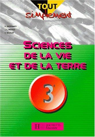 Sciences de la Vie et de la Terre, 3ème