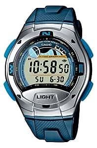 Casio W7532AVEF Tidegraph Chronograph Timer Mens Wrist Watch In Plastic