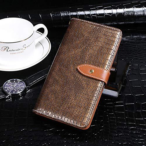BELLA BEAR Case für Leagoo Z7,Leder Brieftasche Geldbörse Halterung Funktion Weichem PU Material Phone Case Cover for Leagoo Z7 Hülle(Schwarzes Gold)