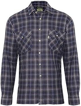 Champion Country Clothing, camicia da lavoro da uomo, 100% cotone con motivo tartan, stile taglialegna