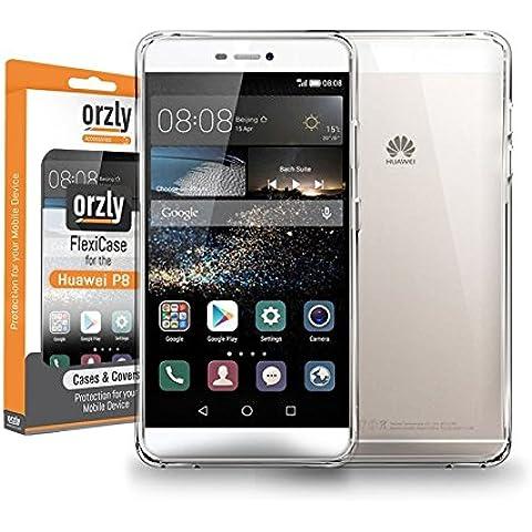 Orzly® - FlexiCase para HUAWEI P8 SmartPhone (5,2 Pulgadas Modelo Teléfono Móvil) - Funda Protectora de Gel Flexible - 100%
