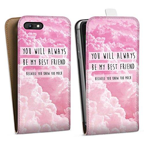 Apple iPhone X Silikon Hülle Case Schutzhülle Freunde BF Statement Downflip Tasche weiß