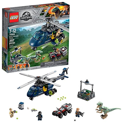 LEGO Jurassic World Helicopter chase Blue 75928 (397 pieces)